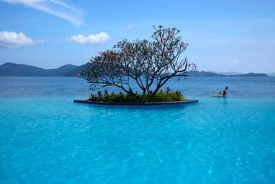 The Infinity Pool at Tanjung Aru Resort
