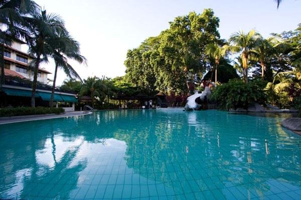 Poolside at Sabah Hotel