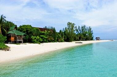 A Beach on Lankayan Island