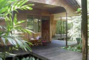 A cabin at Rimba Lodge
