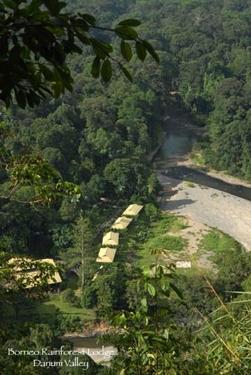 Aerial view of Borneo Rainforest Lodge