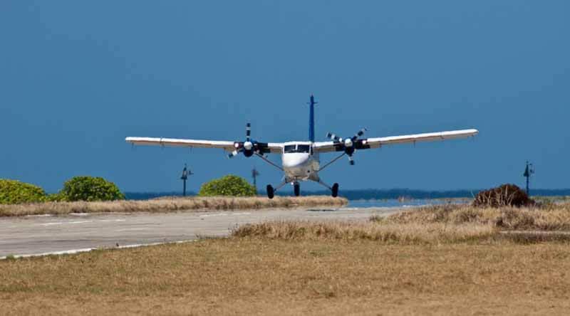Arrival by Plane at Layang Layang Resort