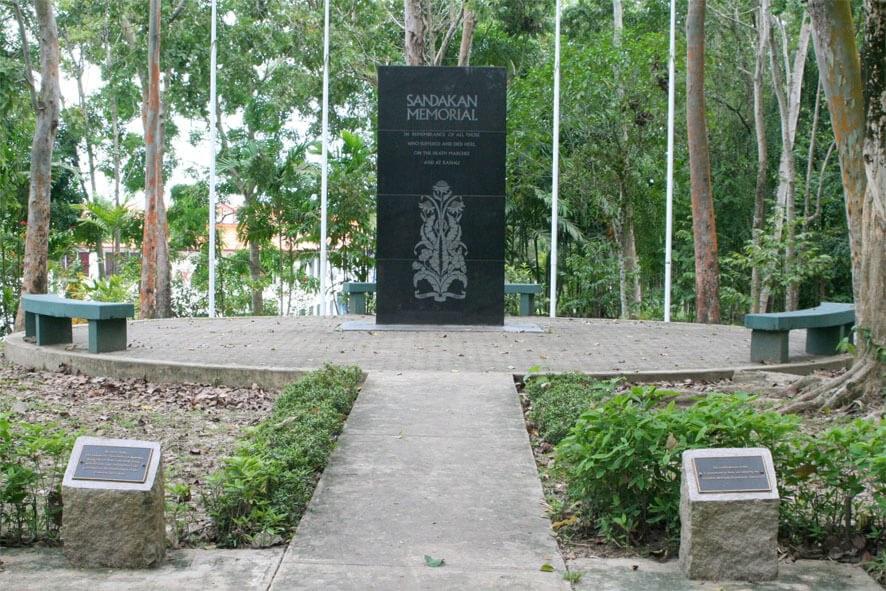 Australian War Memorial at Sandakan Prisoner of War Camp in Sandakan
