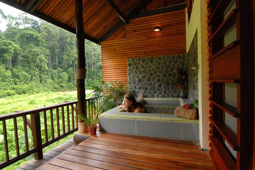 BRL Accommodation - Deluxe Room verandah hot tub
