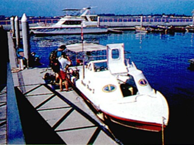 Borneo Divers' day boats are fast and reliable