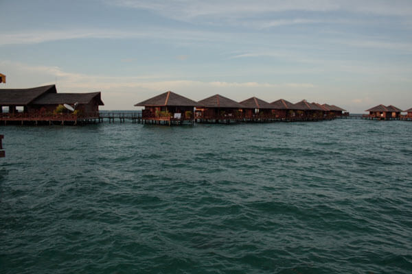 Chalets over the water at Mabul Sipadan Water Village
