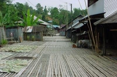 Common Verandah - Longhouse at Anah Rais