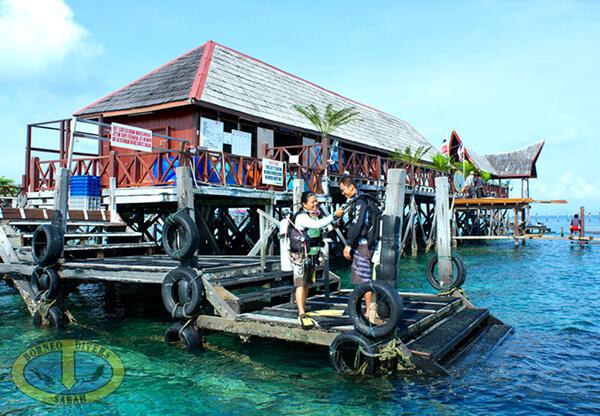 Dive Centre at Borneo Divers Mabul Resort