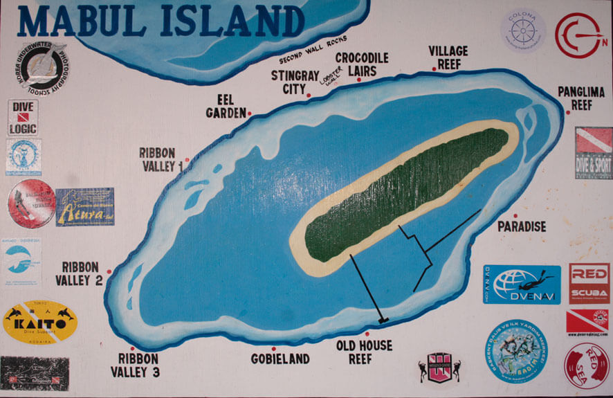 Dive Sites around Mabul Island