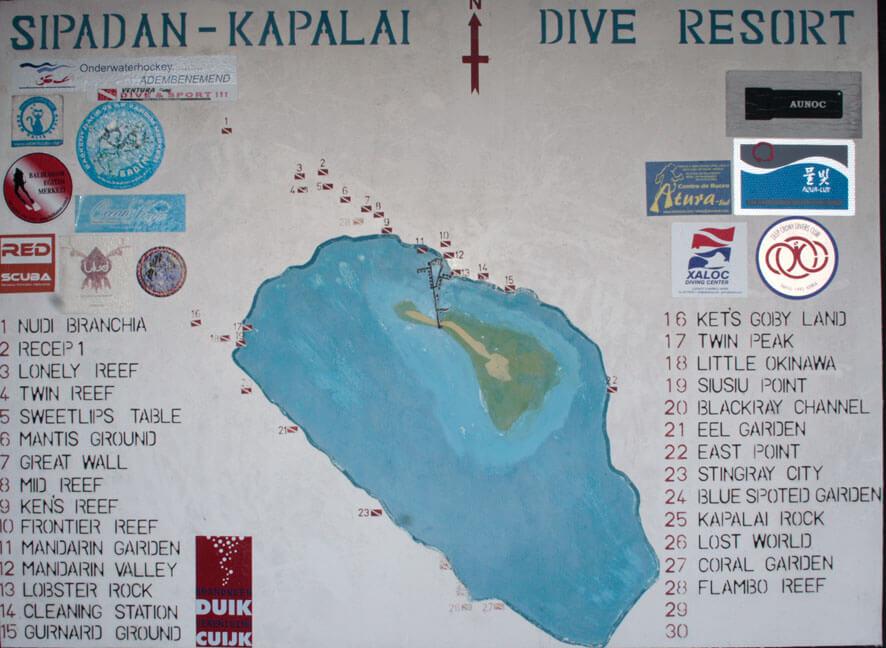 Dive sites around Kapalai Resort