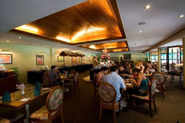 Enjoy breakfast at the Plantation Cafe, Sabah Hotel
