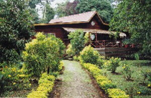 Entry and Main Building at Sukau Rainforest Lodge