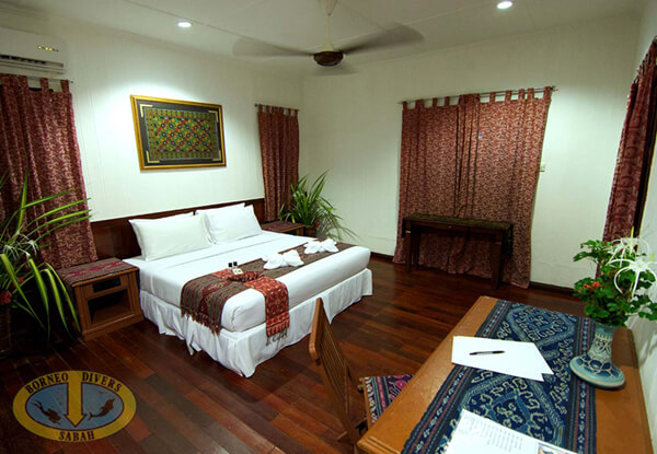 Ethnic Inspired decor at Borneo Divers Mabul Resort