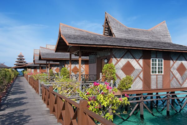 External View of the Water Bungalow Accommodation