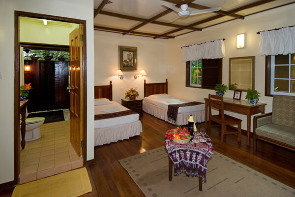 Interior View of Stand-alone Chalet at Sipadan Mabul Resort