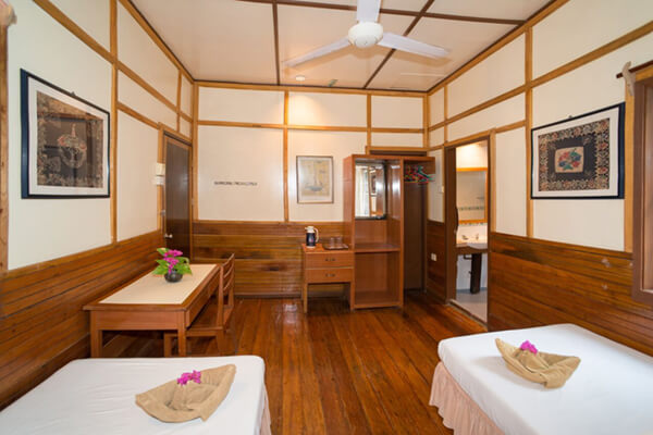 Interior View of Standard Chalet at Sipadan Mabul Resort