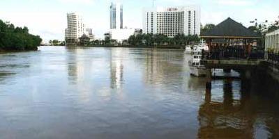 Kuching City Skyline and Sarawak River