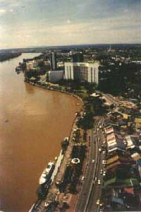Kuching Hilton on the Sarawak River