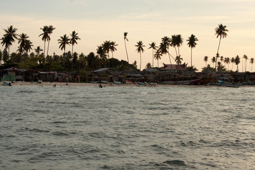 Late afternoon view of the Mabul Island Shoreline
