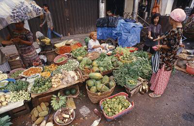 Market Scene in Samarinda