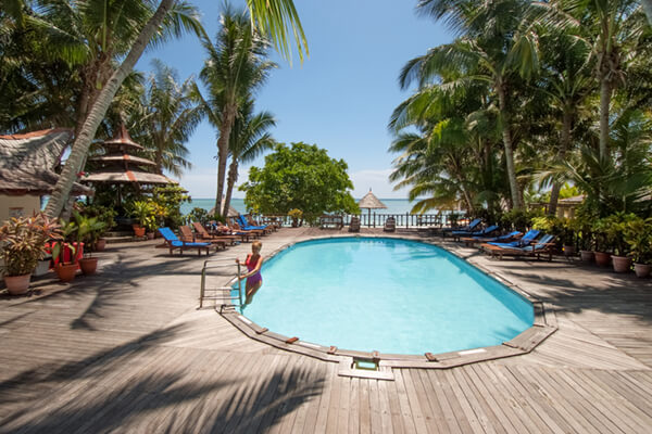 Pool area at Sipadan Mabul Resort