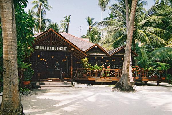 Sipadan Mabul Resort Reception and Restaurant Area