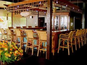 The bar area at Mataking Reef Dive Resort