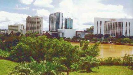 View of Kuching Across the Sarawak River