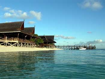 View of Mataking Reef Dive Resort