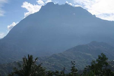 View of Mt Kinabalu