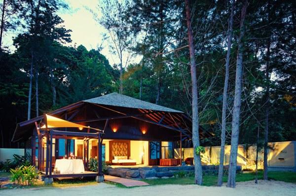 View of Pool Villa at Borneo Eagle Resort