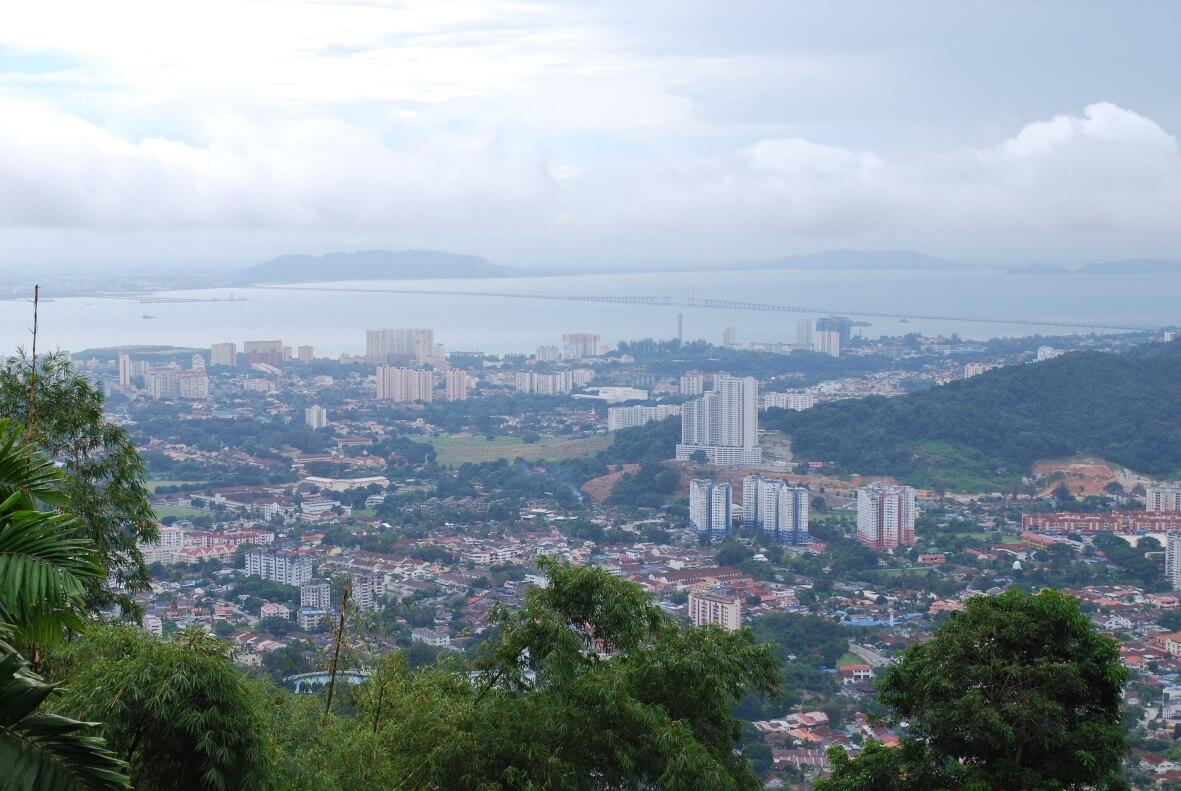 View to Penang Bridge from Penang Hill
