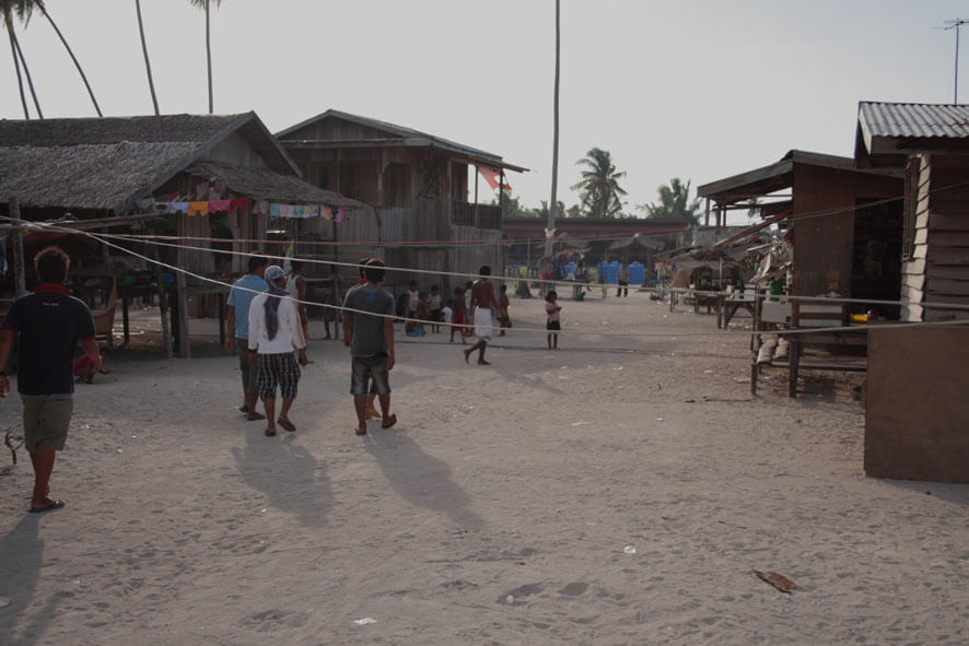 Village life on Mabul