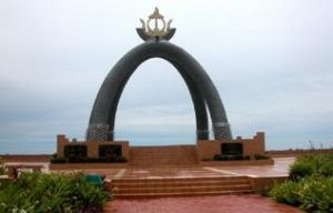 The Billionth Barrel Monument at Seria