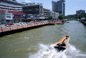 Travel through the city on the River