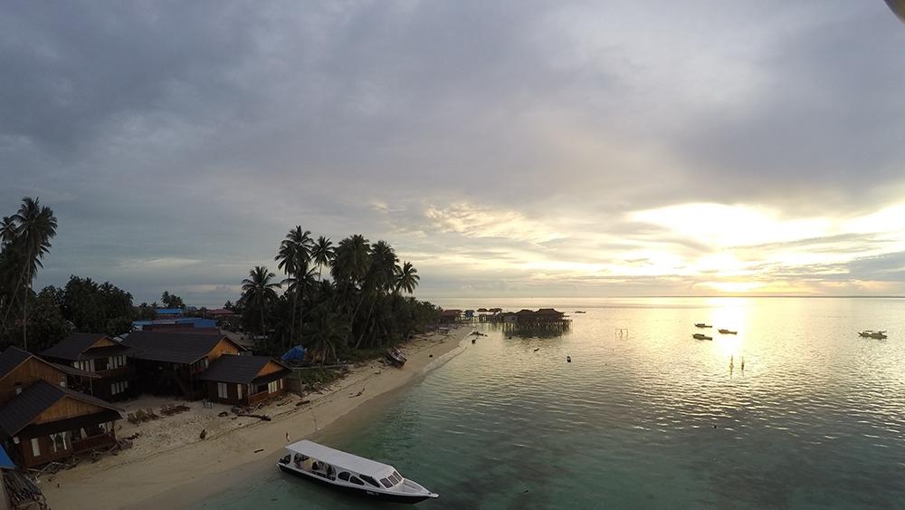 Sunset at Derawan Dive Lodge