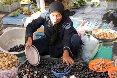 A market stall at Kianggeh