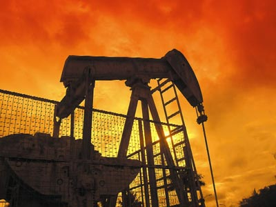 "A ""nodding donkey"" on the Seria Oil Fields"